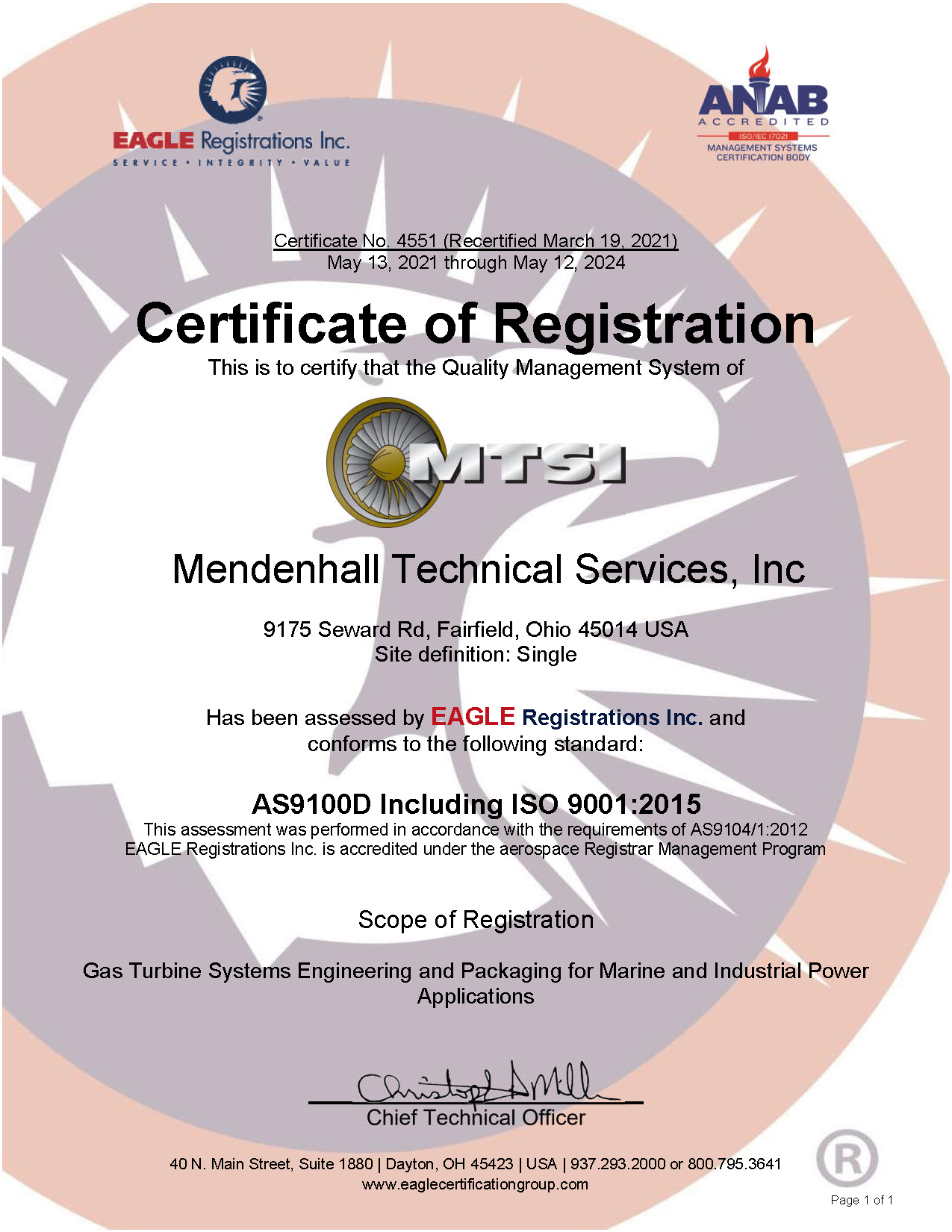 AS9100D-ISO 9001:2015 Certification